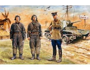 Icm Icm35181 Soviet Tank Crew 39-42 Figura 1:35 Modellino