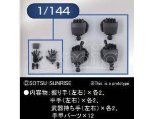 BANDAI MODEL KIT BUILDERS PARTS HD MS HAND 02 ZEON 1/144 ACCESSORI