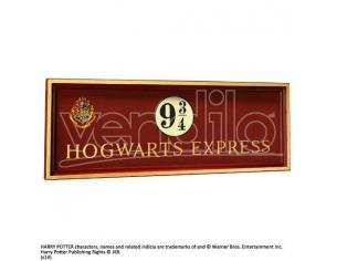 Harry Potter Placca Murale Binario 9 E 3/4 Espresso Hogwarts 56x20 Cm Noble