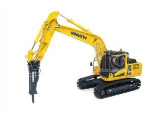Universal Hobbies Uh8096 Komatsu Pc210lc-10 Con Hydraulic Breaker (martello Idraulico) 1:50 Modellino
