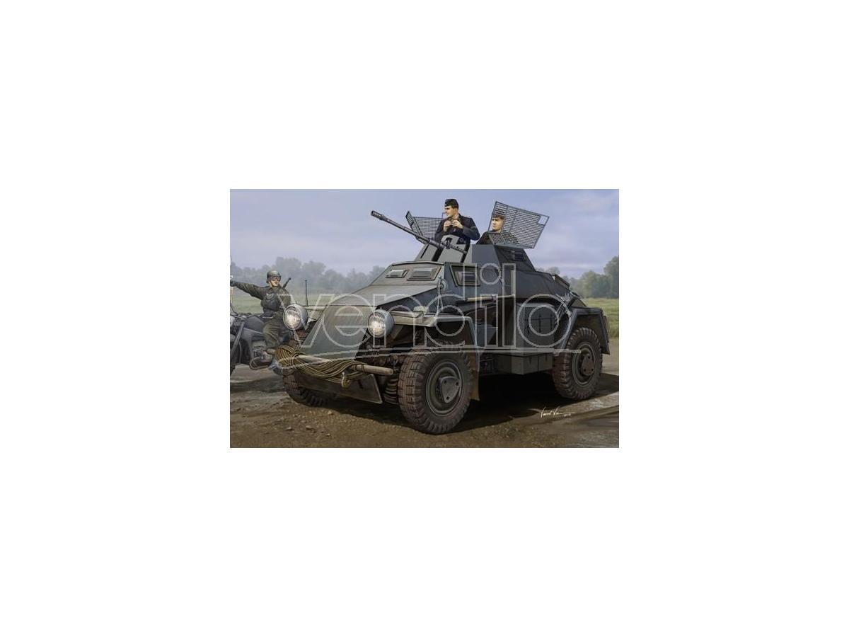 HOBBY BOSS HBB83816 GERMAN SD.KFZ.222 LEICHTER PANZERSPAHWAGEN 3rd SERIES KIT 1:35 Modellino
