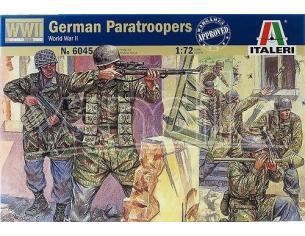 Italeri IT6045 GERMAN PARATROOPERS KIT 1:72 Modellino