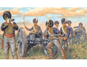 Italeri IT6041 WATERLOO 200 YEARS NAPOLEONIC WARS BRITISH ARTILLERY KIT 1:72 Modellino