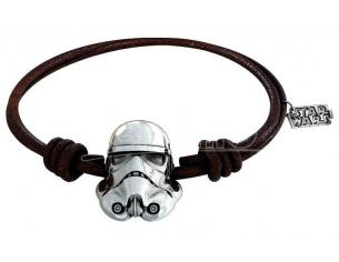 Sd Toys Sw Stormtrooper Silver Braccialetto Brwn Lth Braccialetto