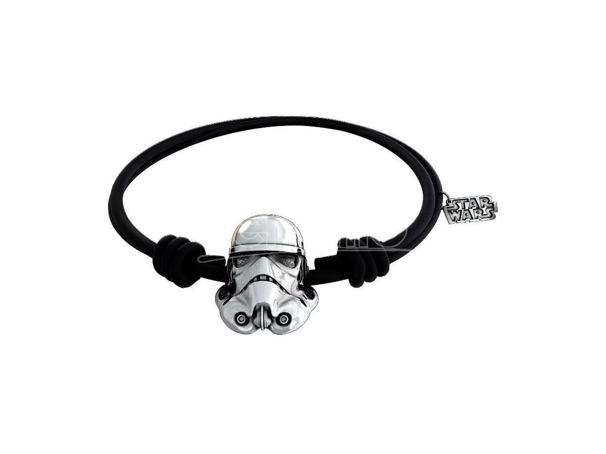 Sd Toys Sw Stormtrooper Silver Braccialetto Blck Rbr Braccialetto