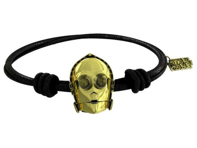 Sd Toys Sw C-3po Gold Braccialetto Black Rubber Braccialetto