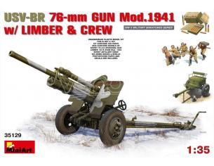 Miniart MIN35129 USV-BR 76mm GUN MOD.1941 KIT 1:35 Modellino