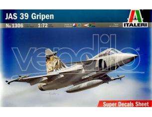 Italeri IT1306 JAS 39 GRIPEN KIT 1:72 Modellino
