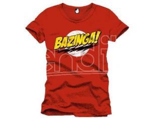 The Big Bang Theory Tshirt Maglietta Maglia Bazinga rosso red Size L uomo New