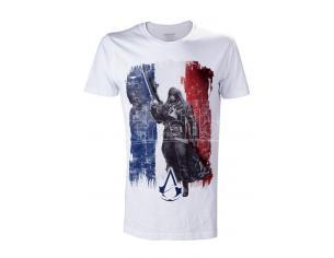 Bioworld T-shirt Assassin Creed Arno Frnch Bandiera White Taglia M T-shirt