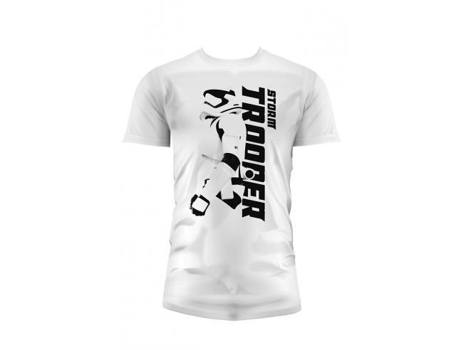 Sd Toys T-shirt Star Wars Ep7 Stormtrp Sideways White Boy Taglia Xl T-shirt