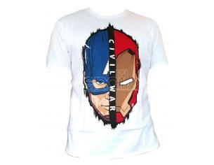 Maglietta Captain America Civil War T Shirt Stark Cap Head Size L CODI