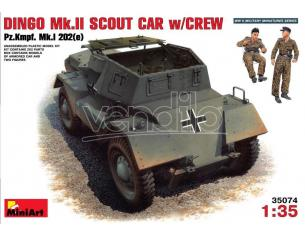 Miniart MIN35074 DINGO MK II (SCOUT CAR W/CREW KIT 1:35 Modellino