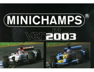 Minichamps PMCATPOST2 POSTER AUTO F1 2003 cm 80x60 Modellino
