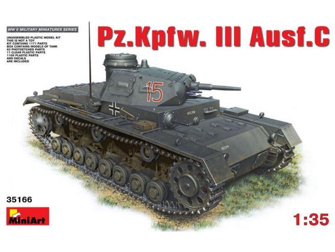 Miniart MIN35166 PZ.KPFW.III AUSF.C KIT 1:35 Modellino