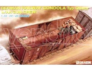 Dragon D6086 GERMAN RAILWAY GONDOLA KIT 1:35 Modellino