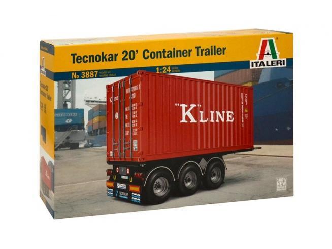 Italeri IT3887 TECNOCAR 20' CONTAINER TRAILER KIT 1:24 Modellino