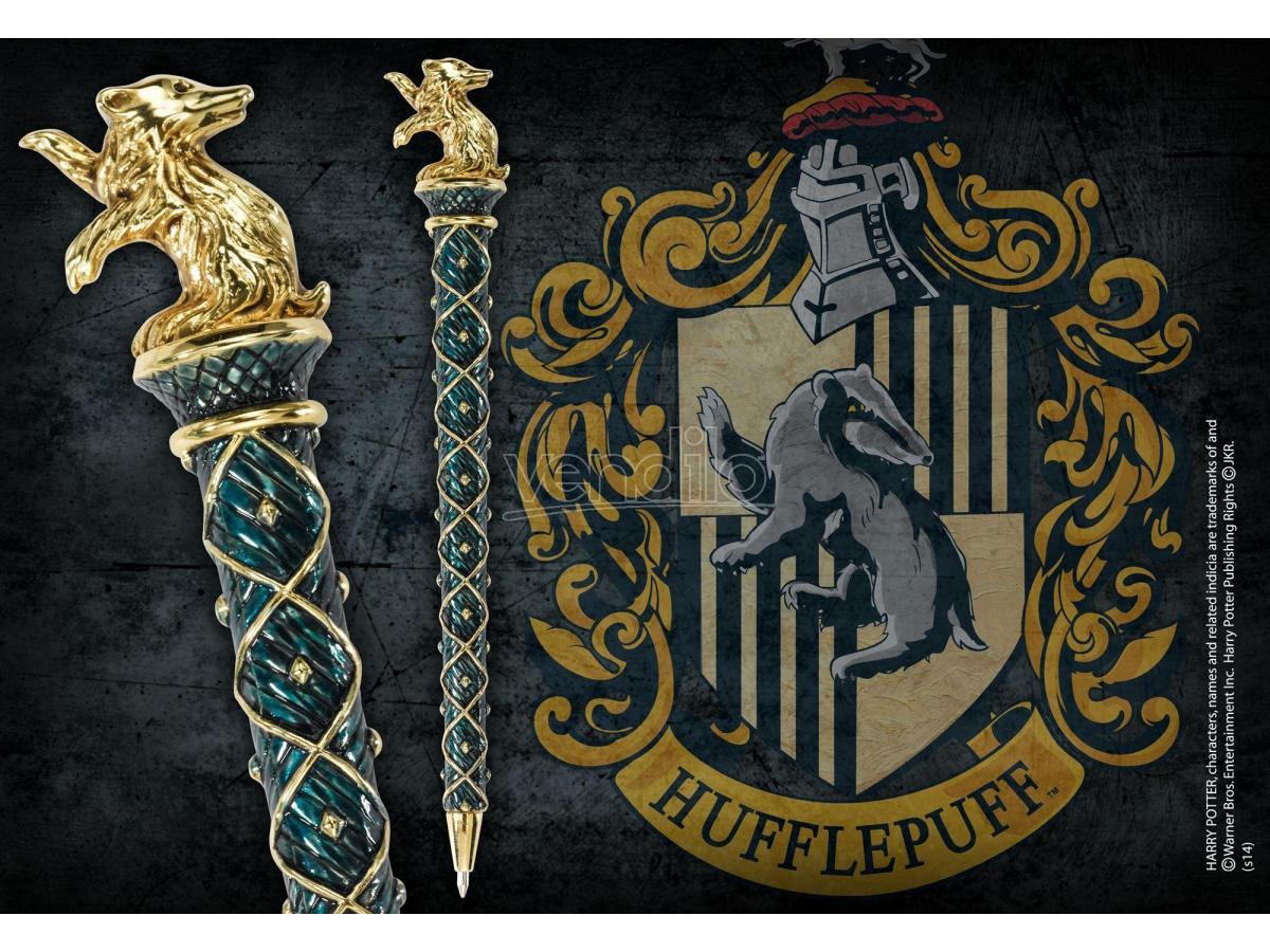 Harry Potter Penna Tassorosso Placcato Oro Noble Collection