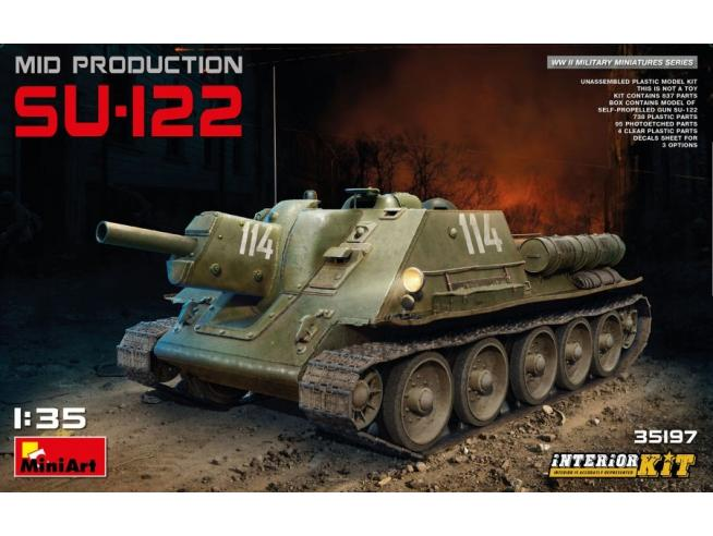 Miniart MIN35197 SU-122 MID PRODUCTION KIT 1:35 Modellino