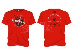 SD TOYS T-SHIRT SW BOBA FETT BOUNTY HUNTER RED MEN TAGLIA L T-SHIRT
