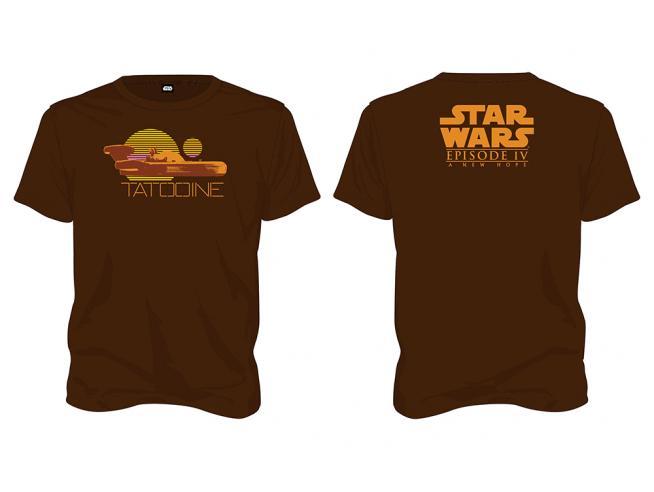 Sd Toys T-shirt Star Wars Tatooine Brown Men Taglia L T-shirt