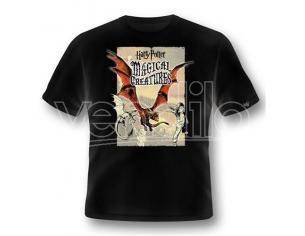 2BNERD T-SHIRT HARRY POTTER MAGICAL CREATURES DRAGON TAGLIA XL T-SHIRT