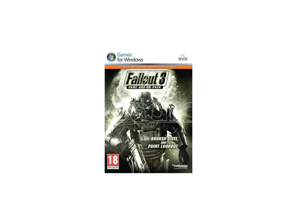 FALLOUT 3 GAME ADD ON 2 BROKEN STEEL AZIONE - GIOCHI PC