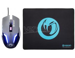 Nacon Gaming Mouse Gm-105+tappetino Per Mouse Pc E Tastiere