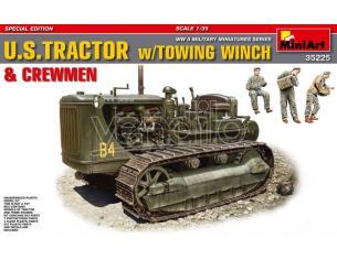 Miniart MIN35225 U.S. TRACTOR W/TOWING & CREWMEN KIT 1:35 Modellino