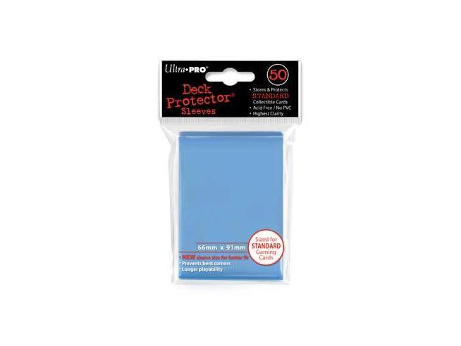 Ultra Pro Bustoine Std Blu Chiaro 50pz Card Protector - Carte Da Gioco/collezione
