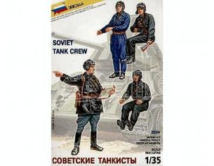 Zvezda 3504 SOVIET TANK CREW KIT 1:35 Modellino