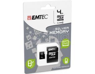 MICROSD + ADAPTER 4GB SILVER (MP3-MP4) MEMORY CARD/HARD DISK CONSOLE - MEMORIE