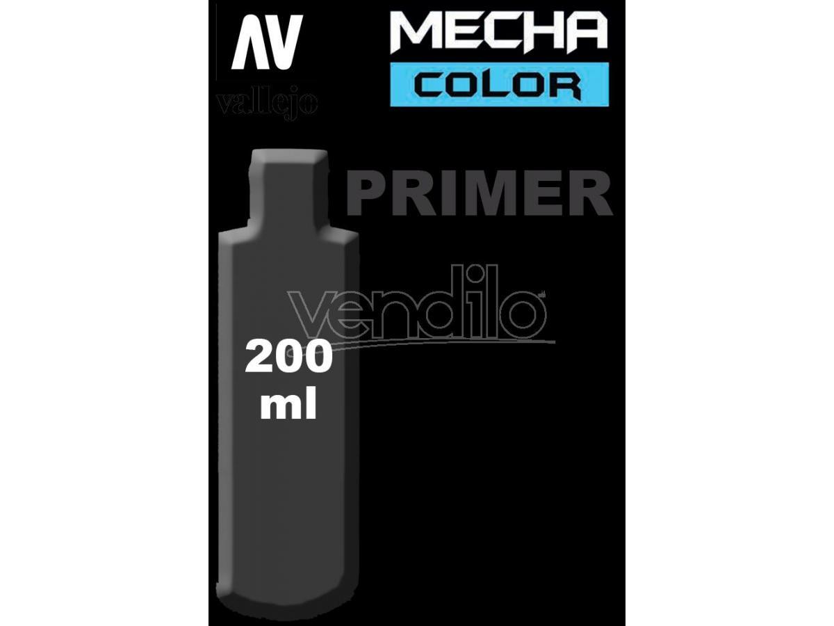 VALLEJO MECHA COLOR PRIMER BLACK 200 ml 74642 COLORI VALLEJO
