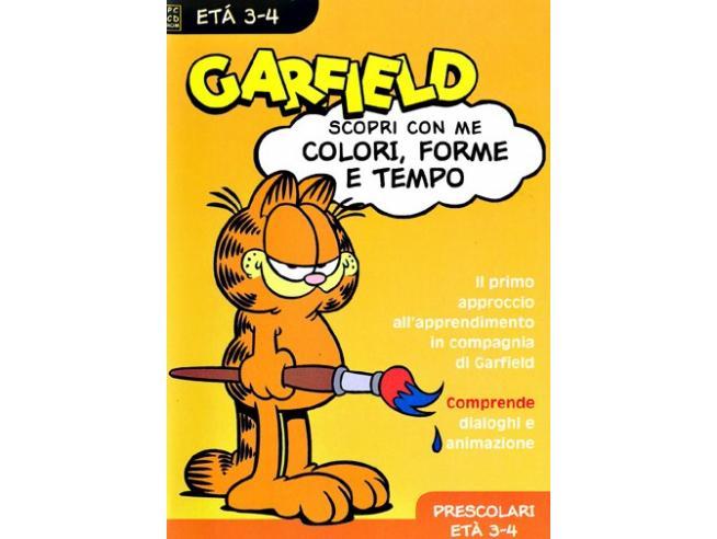 GARFIELD - COLORI,FORME E TEMPI 3-4 ANNI EDUCATIVO GIOCHI PC
