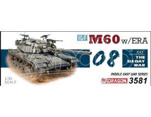 Dragon D3581 M60 W/ERA THE SIX DAY WAR KIT 1:35 Modellino