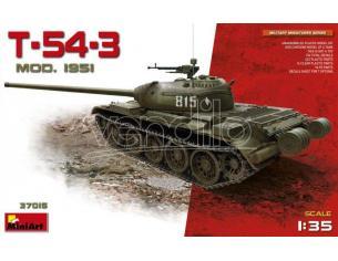 Miniart MIN37015 T-54-3 SOVIET MEDIUM TANK Mod 1951 KIT 1:35 Modellino