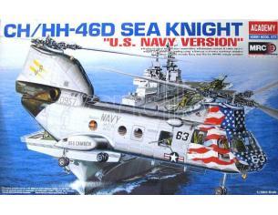 ACADEMY 12207 CH/HH-46D SEA KNIGHT US NAVY VERSION 1:48 Kit Modellino