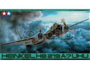 TAMIYA 57 HEINKEL HE 219 A7 UHU 1:48 KIT Modellino Scatola rovinata