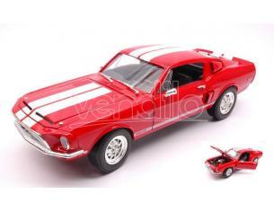 LUCKY DIE CAST LDC92168R SHELBY GT 500 KR 1968 RED 1:18 Modellino