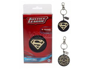 Sd Toys Jla Superman Golden Logo Metallo Portachiavi