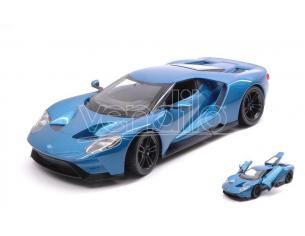 Welly We24082bl Ford Gt 2017 Metallolic Blue 1:24 Modellino
