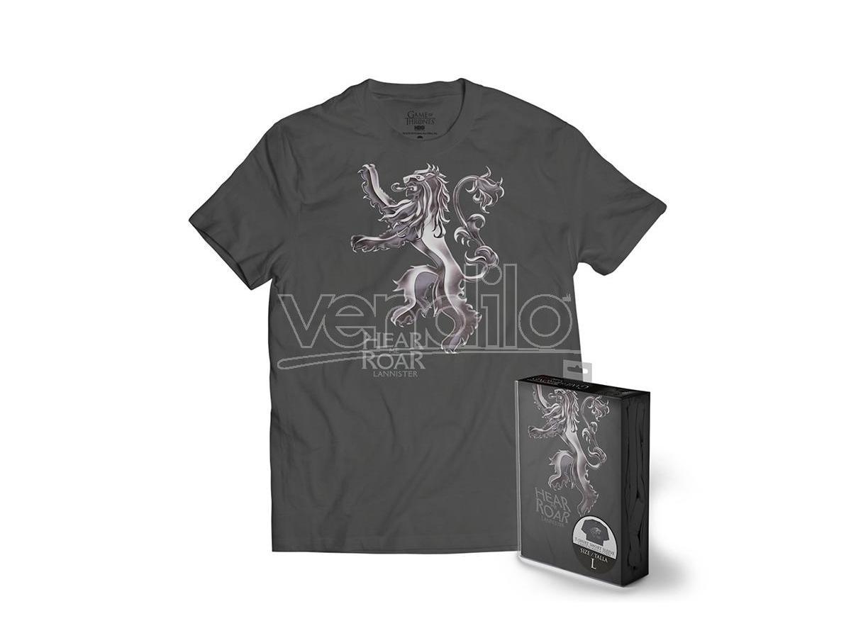 Sd Toys T-shirt Got Lannister Metallolic Logo Grey Uomo Taglia Xl T-shirt