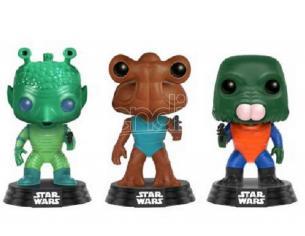 Star Wars Funko POP Vinile Figura Greedo/Hammerhead/Wairus Man 9 cm Esclusiva