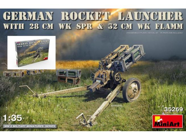 Miniart Min35269 German Rocket Launcher Con 28 Cm Wk Spr & 32 Cm Flamm Kit 1:35 Modellino