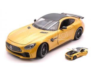 Welly We24081y Mercedes Amg Gt R Metallolic Yellow 1:24-27 Modellino