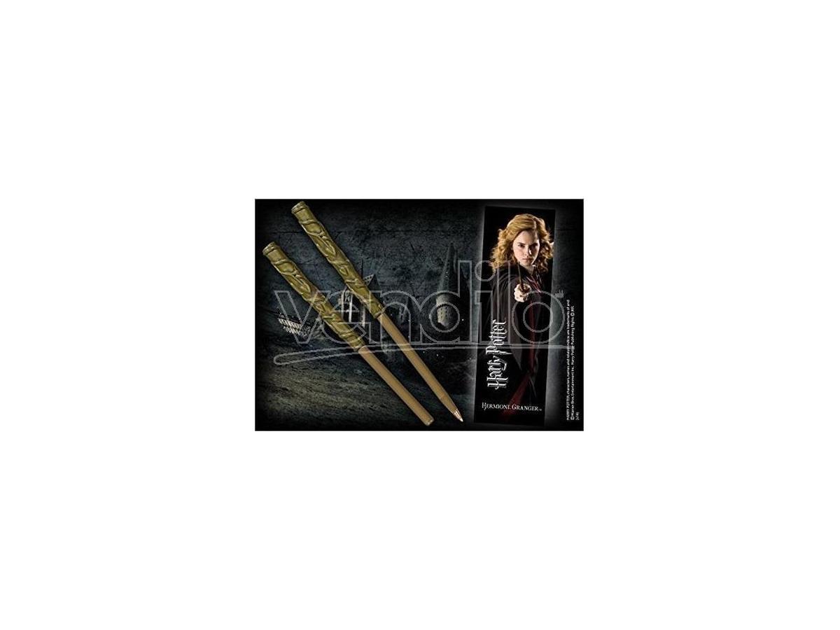 Harry Potter Penna E Segnalibro Bacchetta Hermione Granger Noble Collection