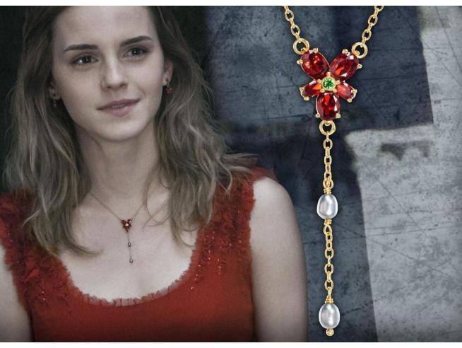 Harry Potter Collana Hermione Granger Con Cristalli Replica 1:1 Noble Collection