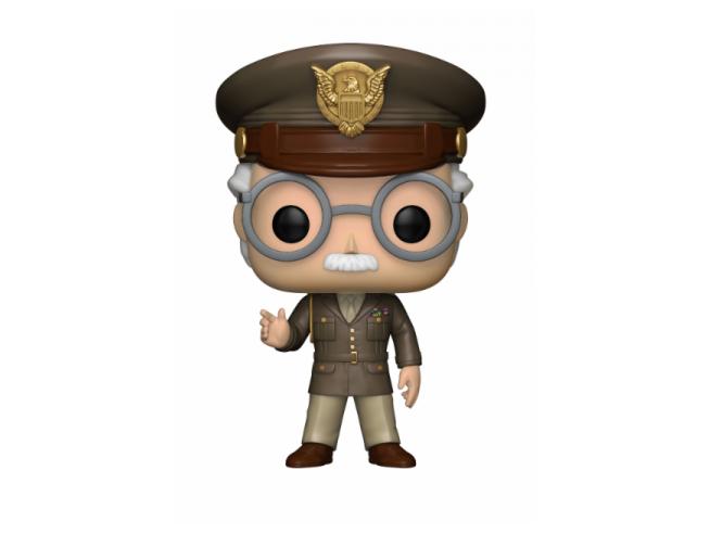 Captain America Funko POP Vinile Figura Stan Lee Generale Esercito 9 cm Esclusiva