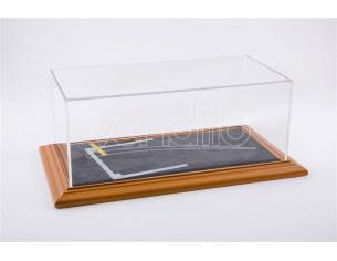 ATLANTIC-CASE ATL30103 STARTING GRID DIORAMA CHERRY WOOD HAND MADE mm 325x165x125 1:18/1:24 Modellino