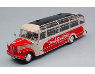IXO MODEL BUS014 BORGWARD BO 4000 BEIGE/RED 1952 1:43 Modellino
